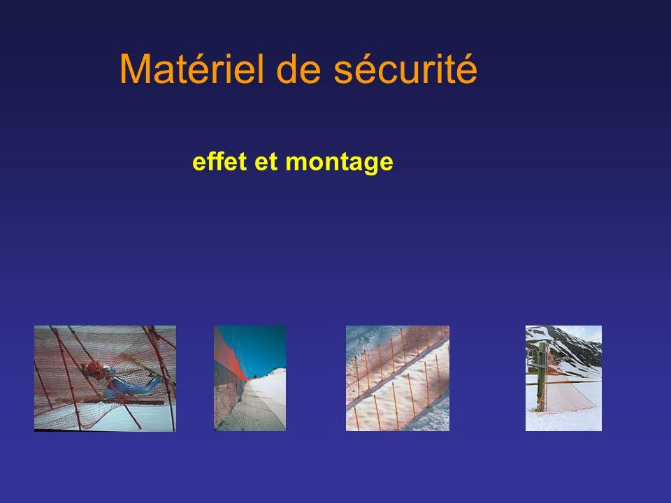 Matériel de sécurité effet et montage