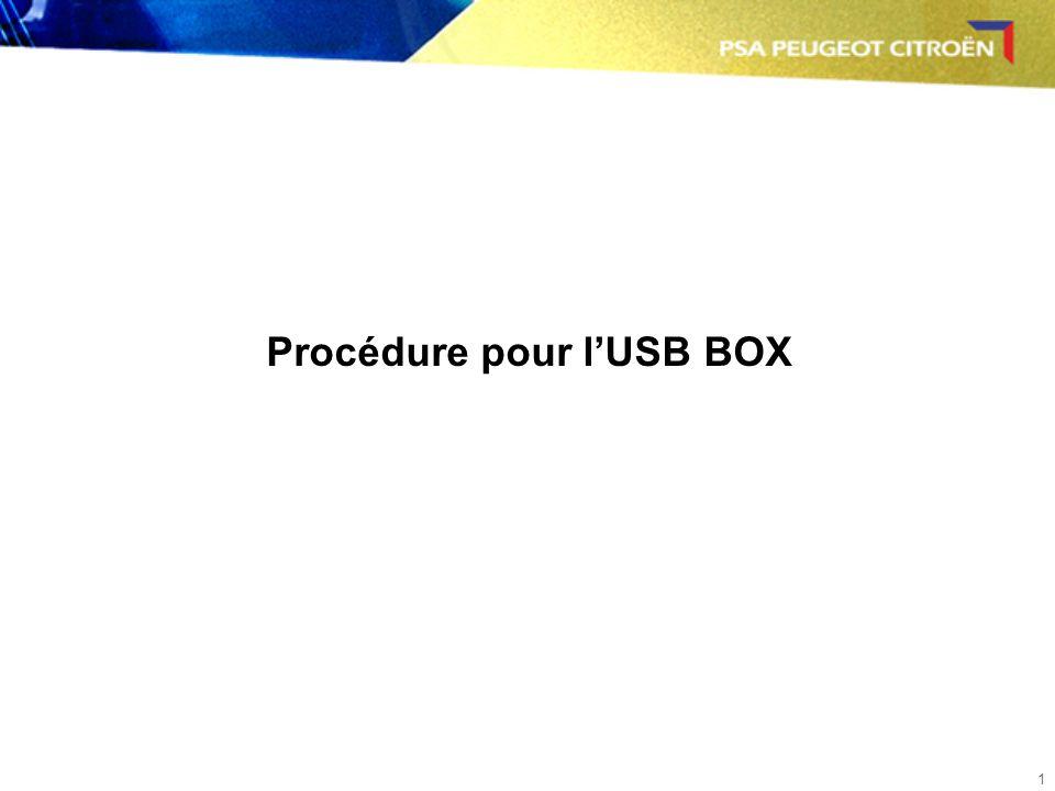 1 Procédure pour lUSB BOX