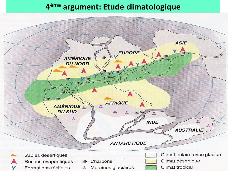 4 ème argument: Etude climatologique