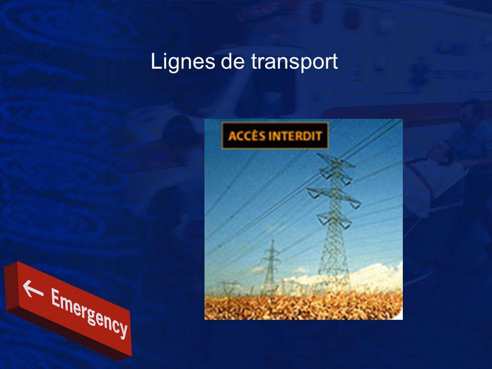 Lignes de transport Intervention Évaluer la situation pour identifier les dangers.