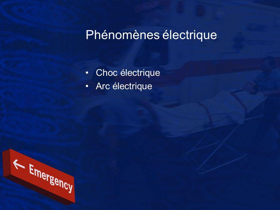 Phénomènes électrique Choc électrique Arc électrique