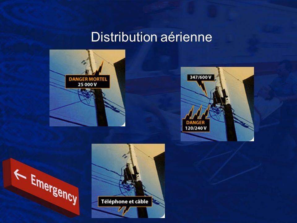Distribution aérienne Intervention Évaluer la situation pour identifier les dangers.