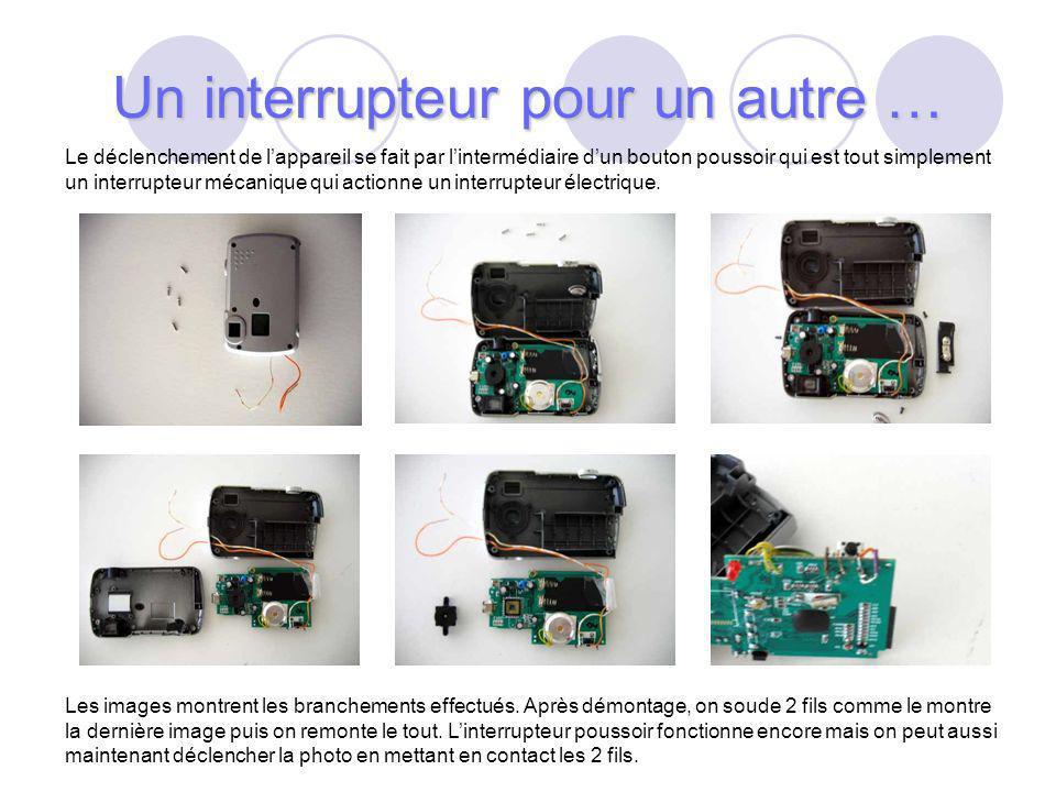 38 Le déclenchement de lappareil se fait par lintermédiaire dun bouton poussoir qui est tout simplement un interrupteur mécanique qui actionne un interrupteur électrique.