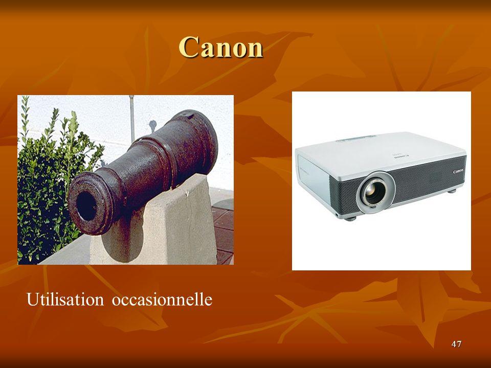 47 Canon Utilisation occasionnelle