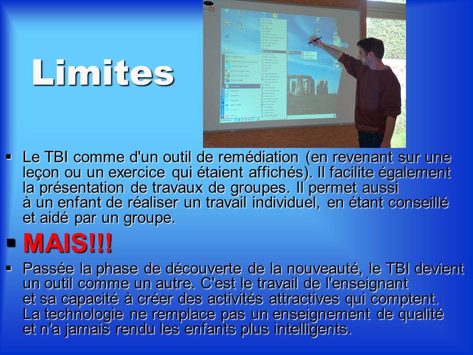 Prix et exigences Les applications du TBI se retrouvent dans: Les applications du TBI se retrouvent dans: le domaine des entreprises (conférences et r