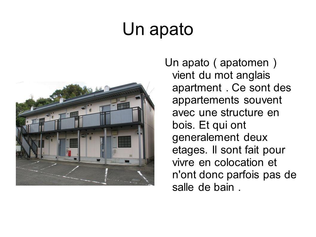 Un apato Un apato ( apatomen ) vient du mot anglais apartment.