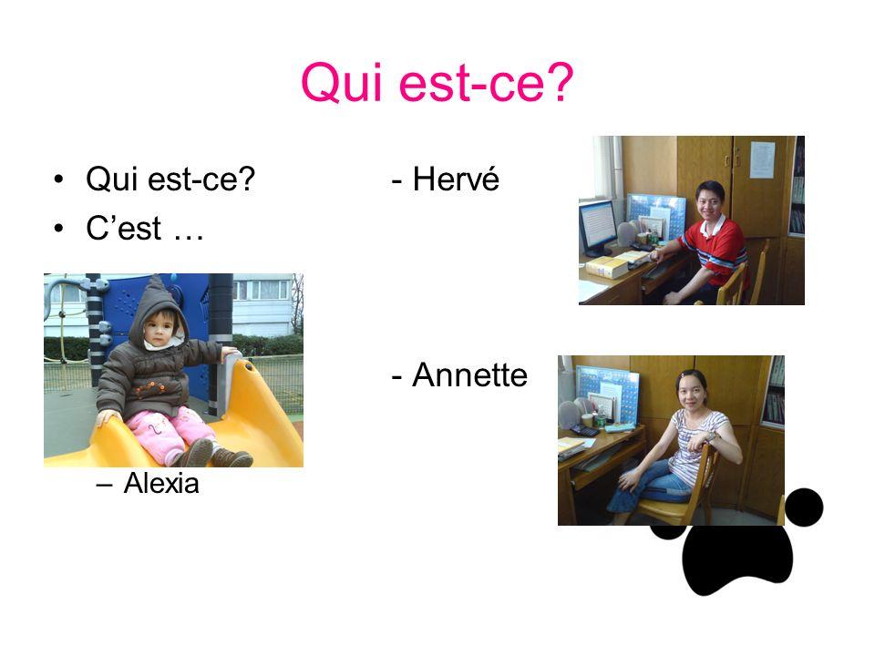 Qui est-ce? Cest … –Alexia - Hervé - Annette