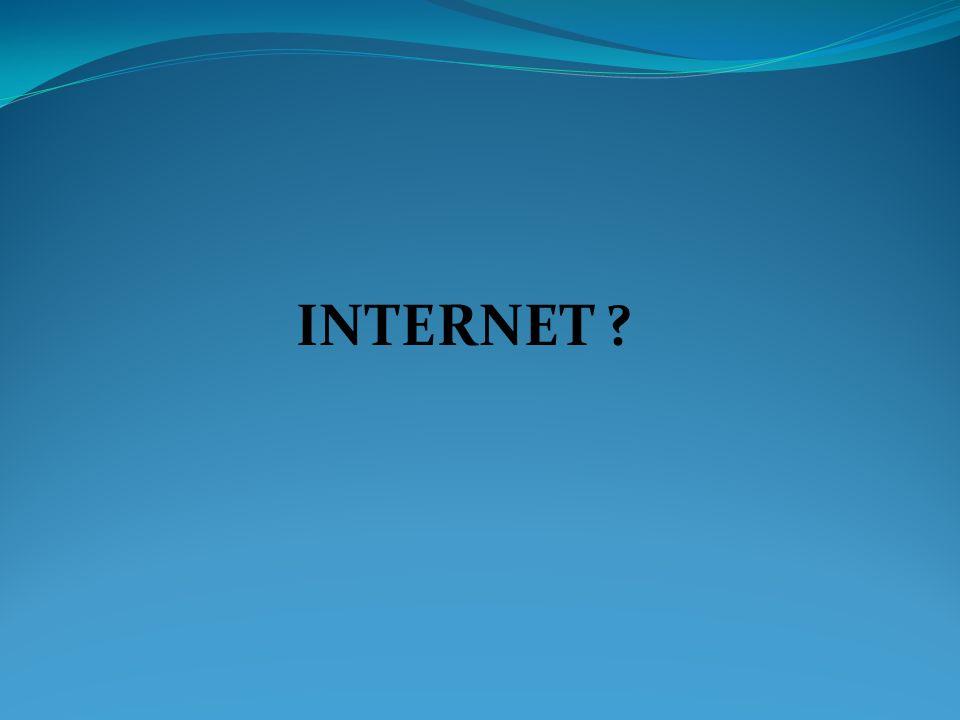 Le mot internet vient de la contraction des mots anglais «interconnection network » c est-à-dire interconnexion des réseaux.