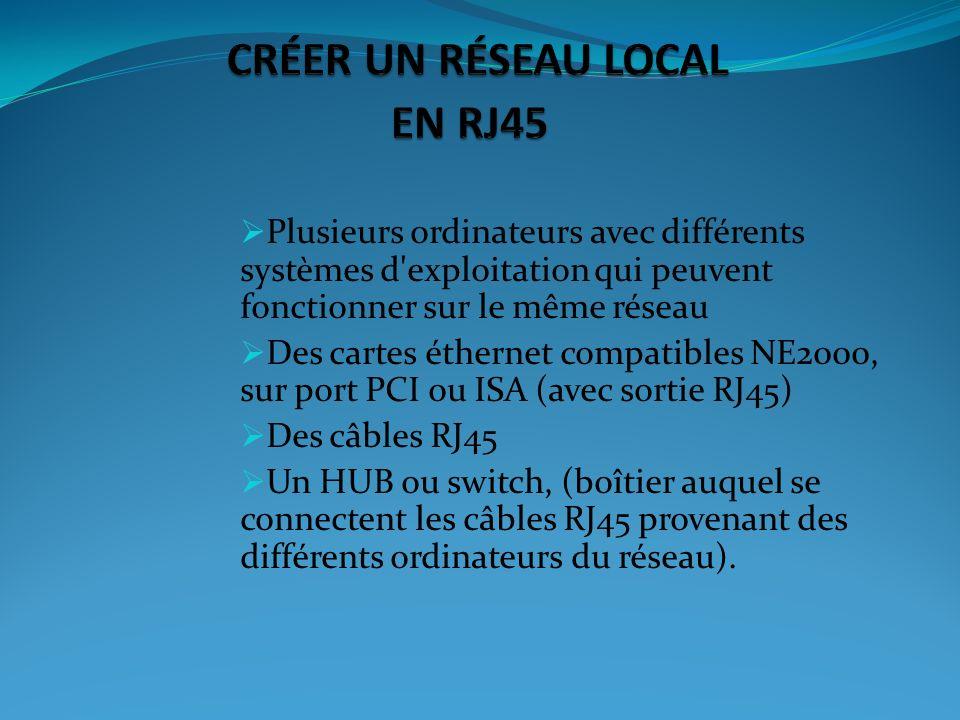 Chaque ordinateur dun réseau local relié à linternet est doté dune adresse dite IP qui permet son identification sur le réseau.