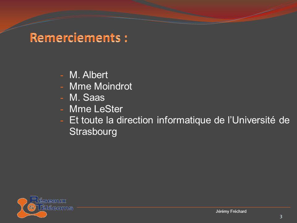 Les quatre points les plus important de lhistoire de lUdS : - 1538, création du Gymnase par Jean-Sturm - 1621, Il reçoit le rend duniversité - 1971, Elle est scindée en 3 universités (ULP, UMB, URS) - 2009, Fusion des 3 universités (lUdS est créé) 4 Jérémy Fréchard