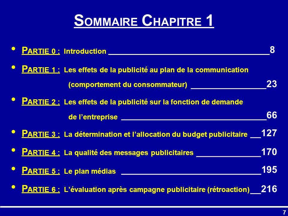 138 PARTIE 3 : Détermination et allocation du budget publicitaire
