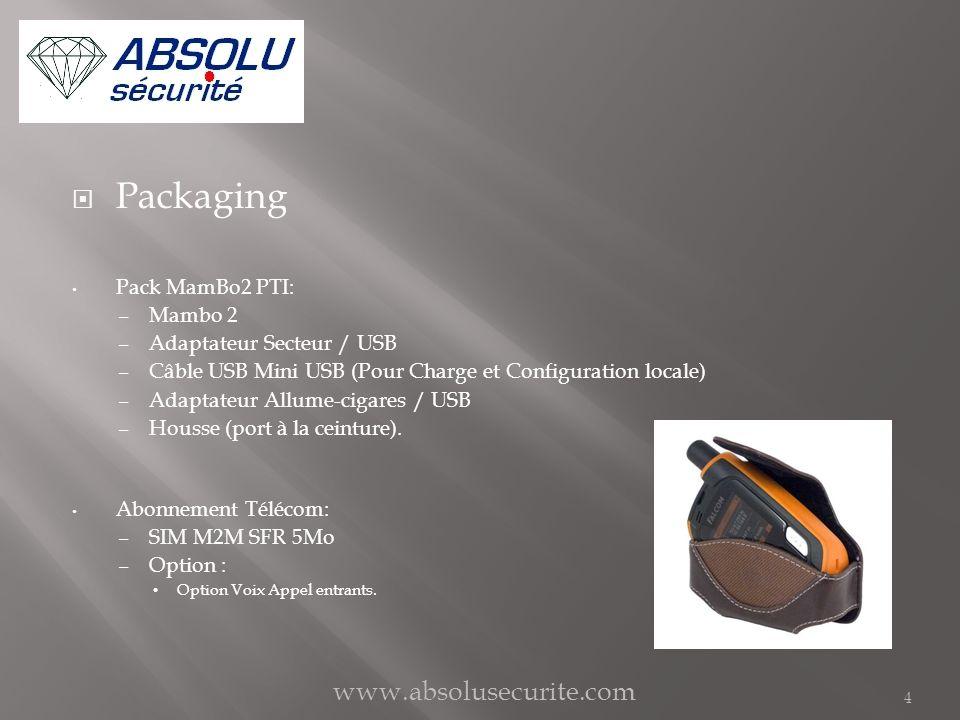Packaging Pack MamBo2 PTI: – Mambo 2 – Adaptateur Secteur / USB – Câble USB Mini USB (Pour Charge et Configuration locale) – Adaptateur Allume-cigares