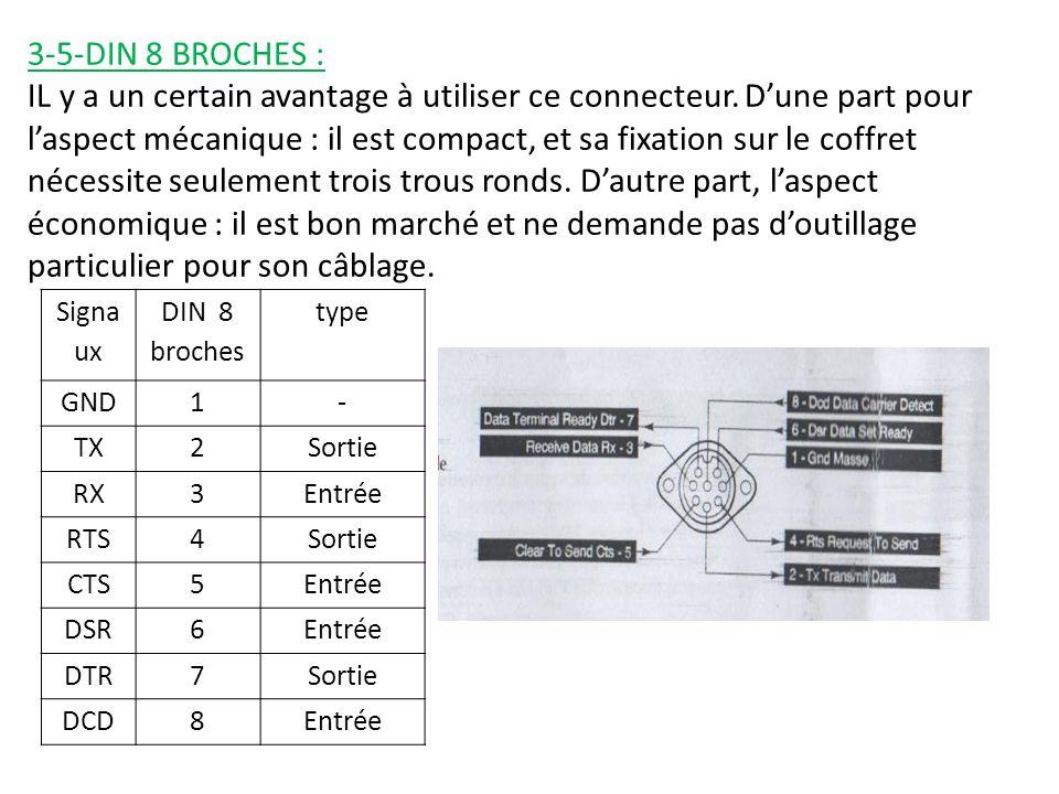3-5-DIN 8 BROCHES : IL y a un certain avantage à utiliser ce connecteur.