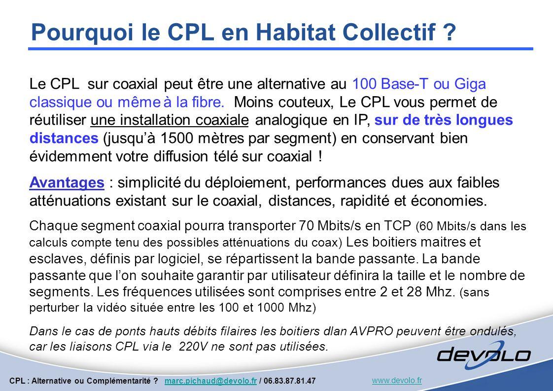 CPL : Alternative ou Complémentarité .