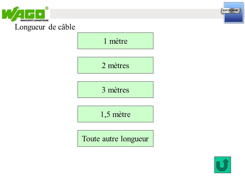 708-456 Référence : longueur de câble 1 mètre.