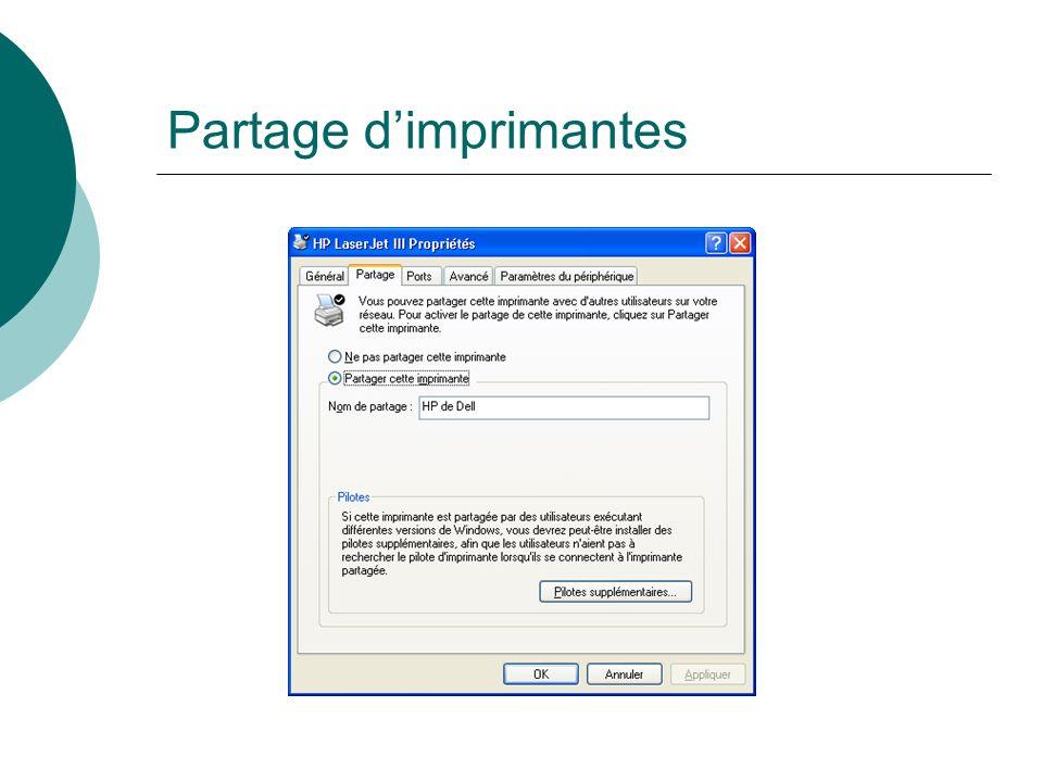 Partage dimprimantes