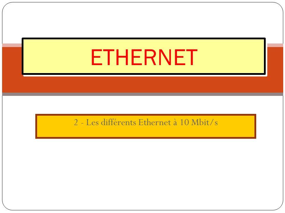 2 - Les différents Ethernet à 10 Mbit/s ETHERNET