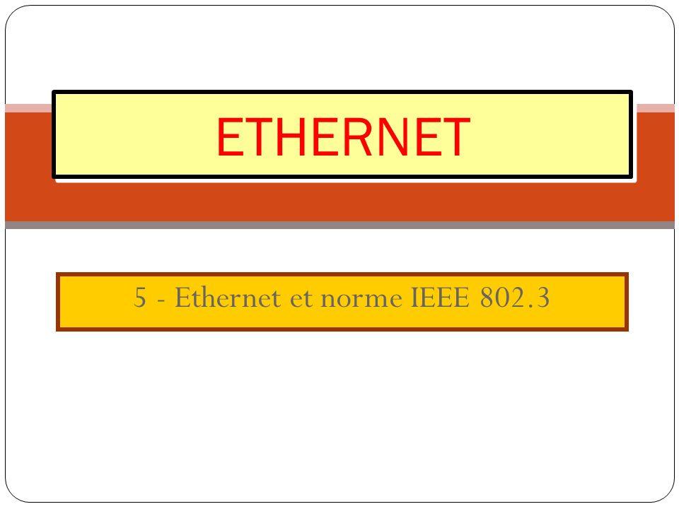 5 - Ethernet et norme IEEE 802.3 ETHERNET