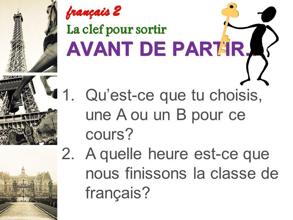 français 2 le 9-10 octobre 2013 ActivitéClasseur I.