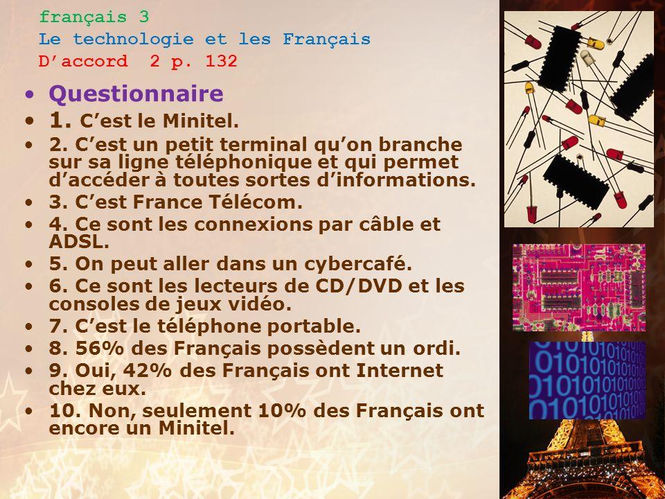 français 3 Le technologie et les Français Daccord 2 pp.