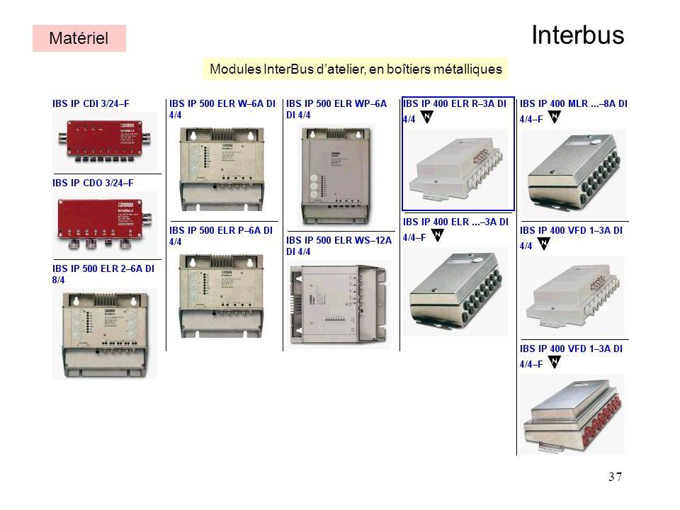 37 Interbus Matériel Modules InterBus datelier, en boîtiers métalliques