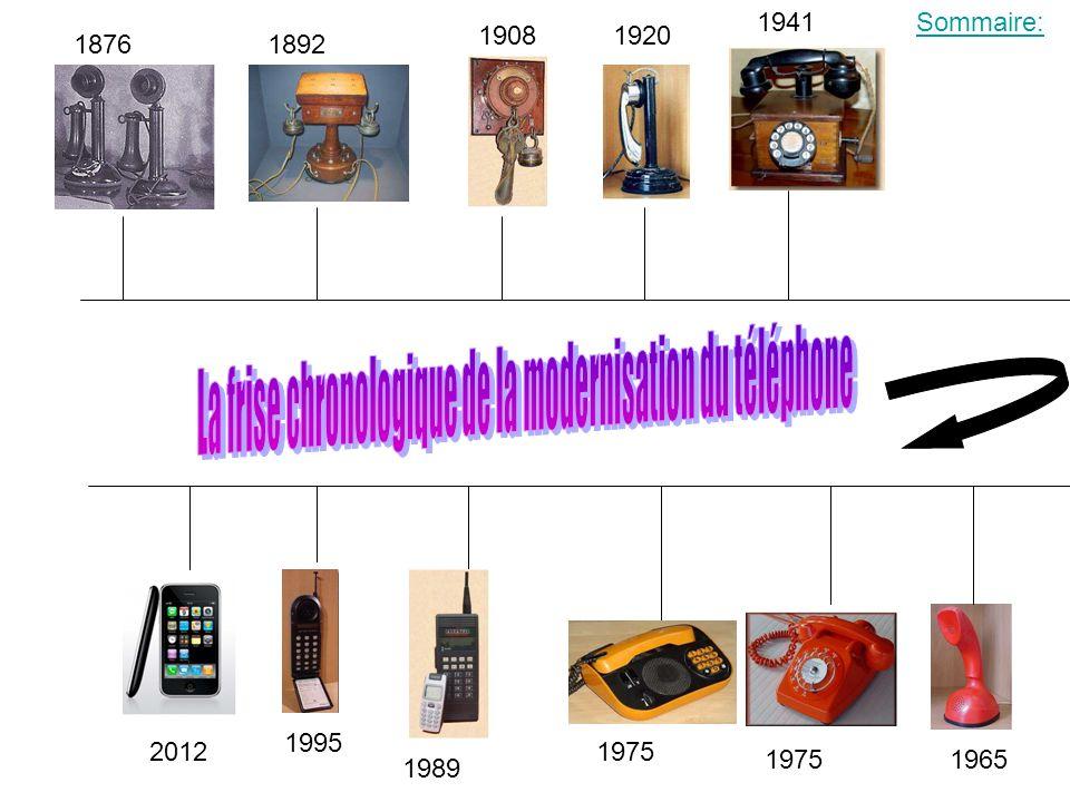 L histoire de ce téléphone commence 1876 il constitue une évolution majeure à lépoque de règne du télégraphe de Chappe et du courrier postal.