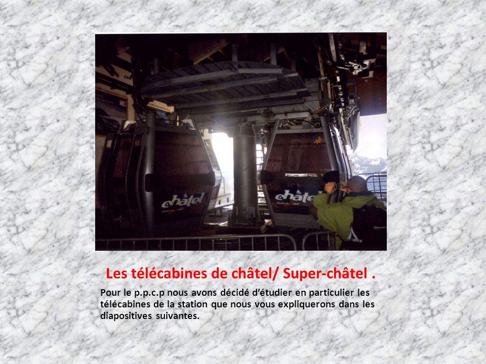 Les télécabines de châtel/ Super-châtel.