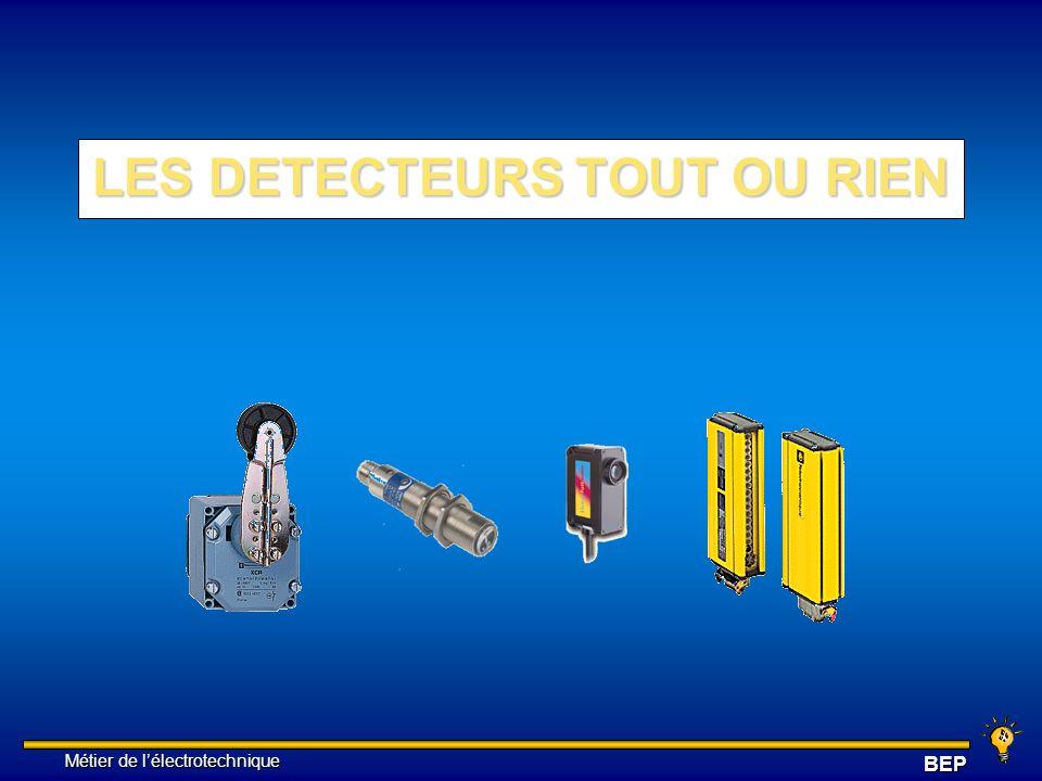 Métier de lélectrotechnique Métier de lélectrotechniqueBEP 3 ) DETECTEUR INDUCTIF CRITERES DE CHOIX : Autres paramètres à prendre en compte : 1.