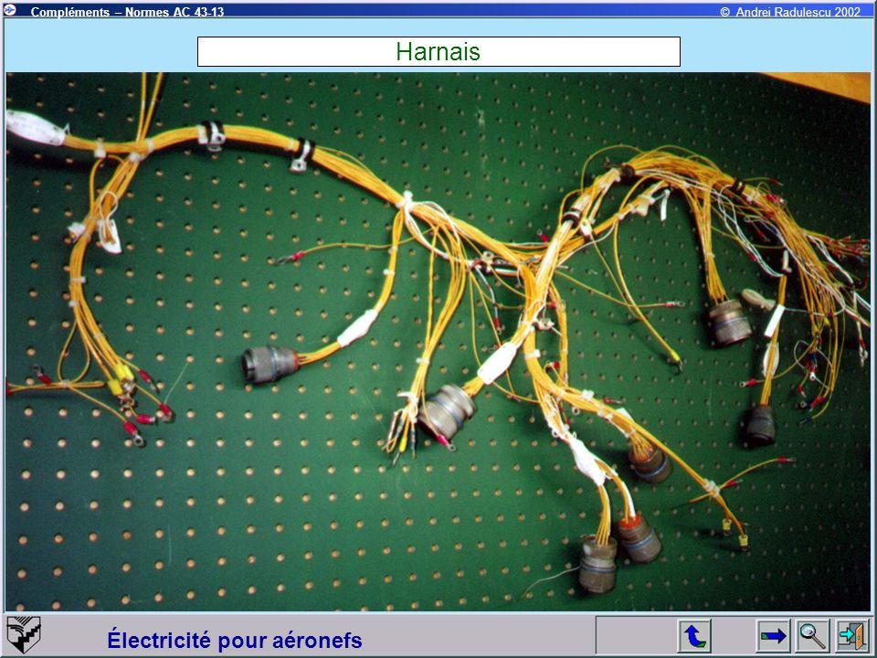 Électricité pour aéronefs Compléments – Normes AC 43-13© Andrei Radulescu 2002 Harnais