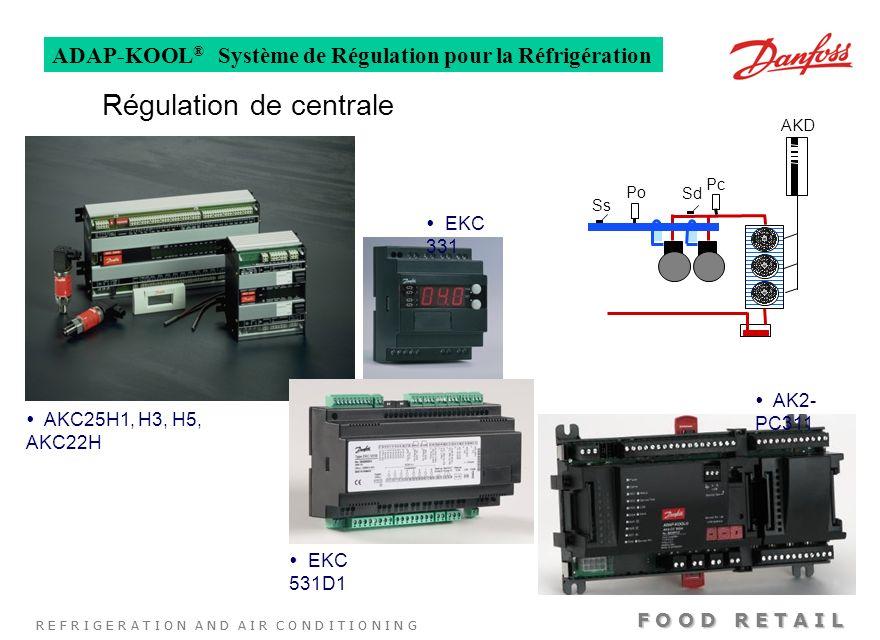 R E F R I G E R A T I O N A N D A I R C O N D I T I O N I N G F O O D R E T A I L ADAP-KOOL ® Système de Régulation pour la Réfrigération Régulation d