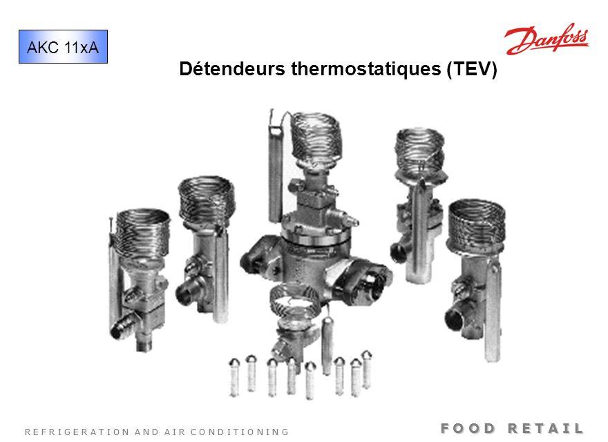 R E F R I G E R A T I O N A N D A I R C O N D I T I O N I N G F O O D R E T A I L Détendeurs thermostatiques (TEV) AKC 11xA
