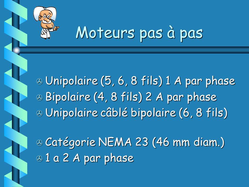 > Unipolaire (5, 6, 8 fils) 1 A par phase > Bipolaire (4, 8 fils) 2 A par phase > Unipolaire câblé bipolaire (6, 8 fils) > Catégorie NEMA 23 (46 mm diam.) > 1 a 2 A par phase