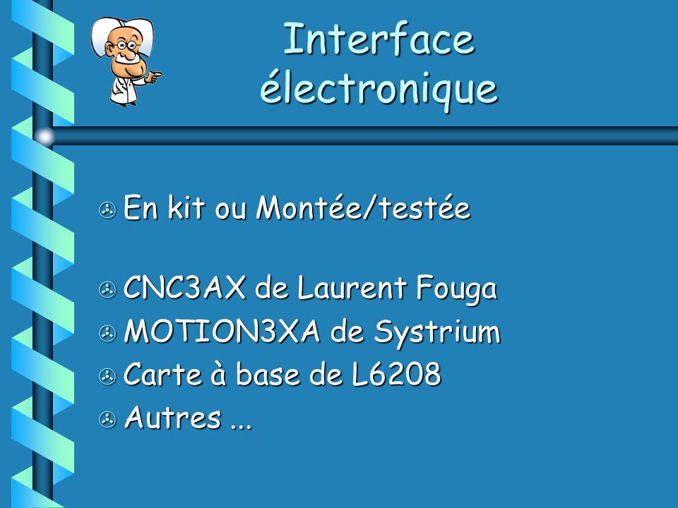 > En kit ou Montée/testée > CNC3AX de Laurent Fouga > MOTION3XA de Systrium > Carte à base de L6208 > Autres...