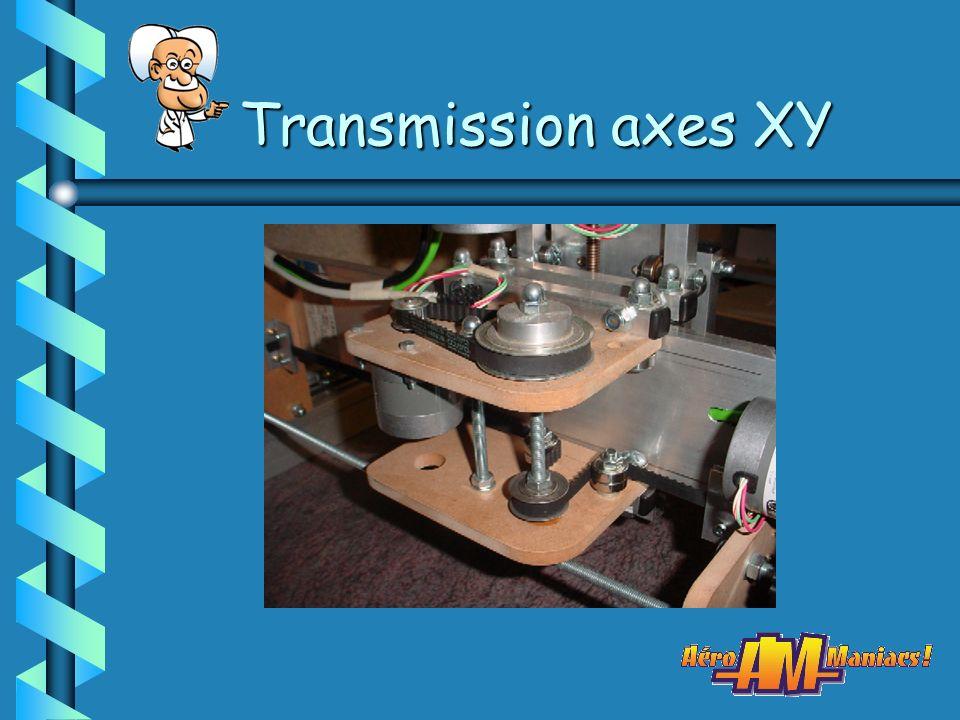 Transmission axes XY (1) > Par vis (tige filetée) > Par vis trapézoïdale > Par vis à billes > Par câble > Par poulies/courroies crantées