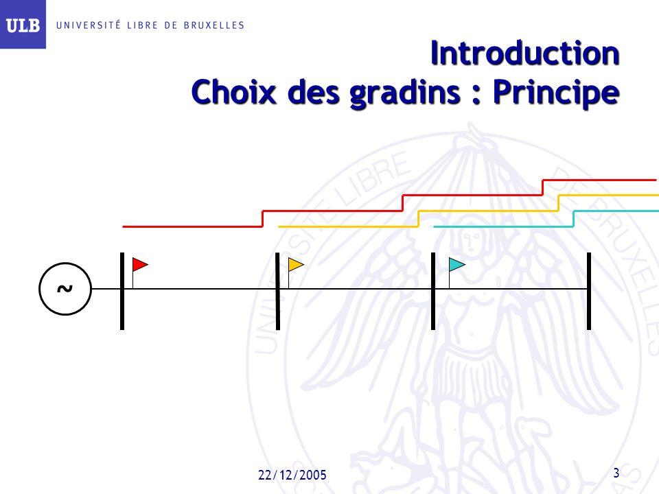 22/12/2005 3 Introduction Choix des gradins : Principe ~