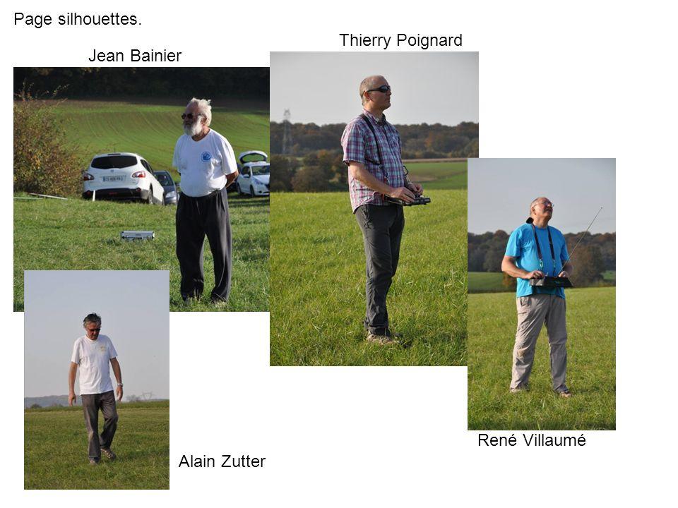 Page silhouettes. Jean Bainier Thierry Poignard René Villaumé Alain Zutter