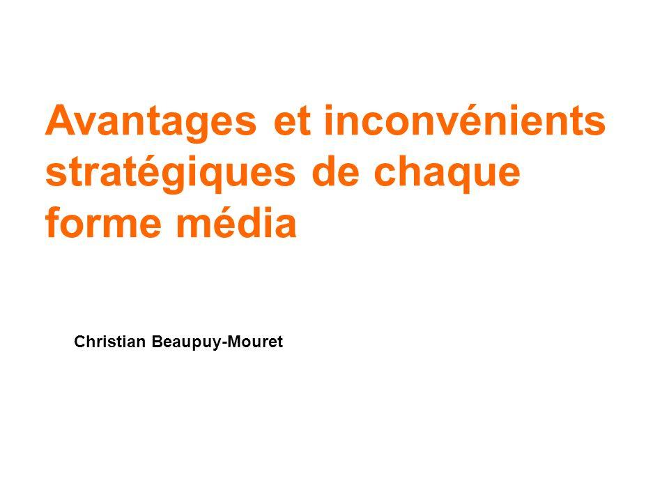 42 Christian Beaupuy-Mouret Le véritable Média tactique : le consommateur !