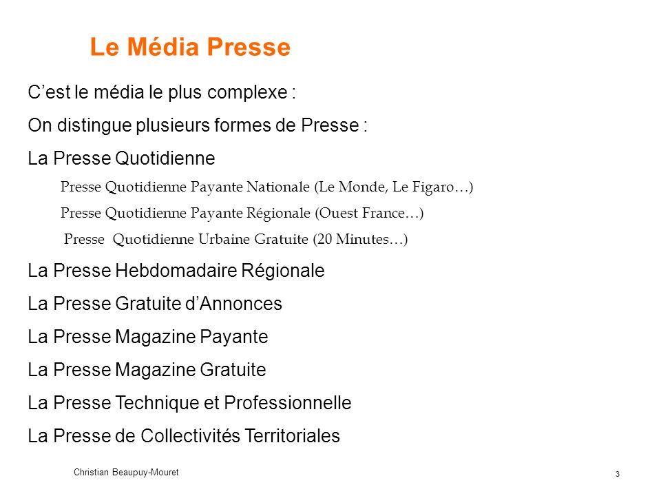 14 Christian Beaupuy-Mouret Le concept de Marque Média développé par lEPIQ