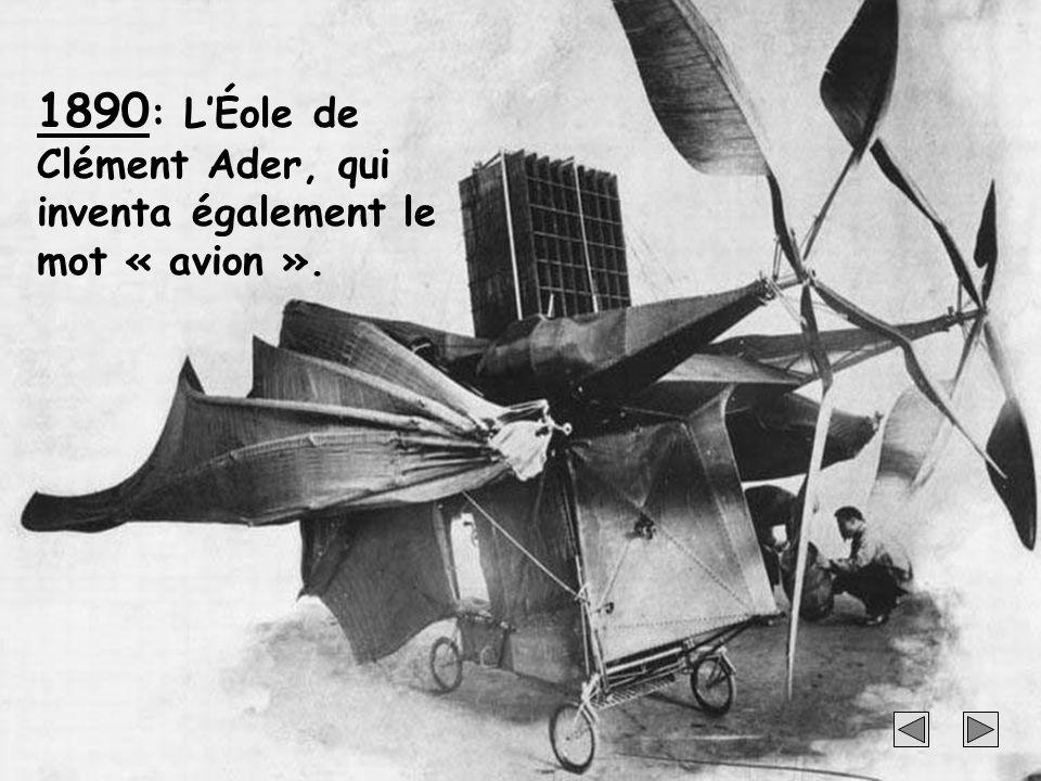 15 1890 : LÉole de Clément Ader, qui inventa également le mot « avion ».