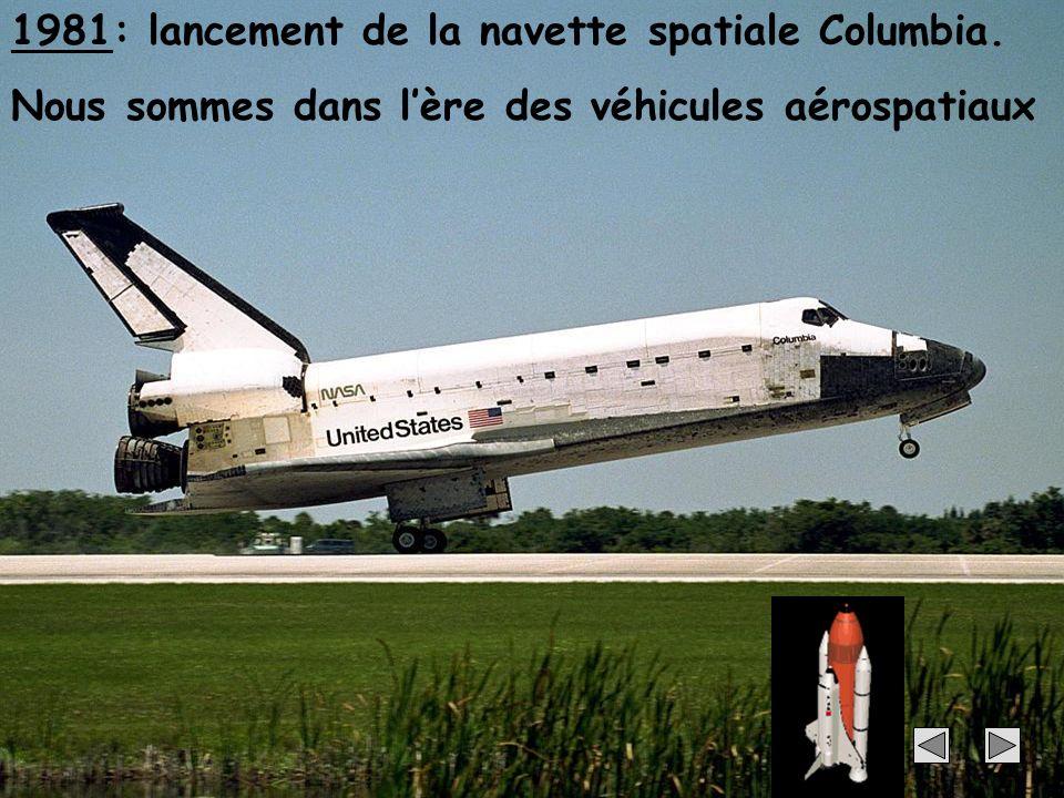30 1981: lancement de la navette spatiale Columbia. Nous sommes dans lère des véhicules aérospatiaux