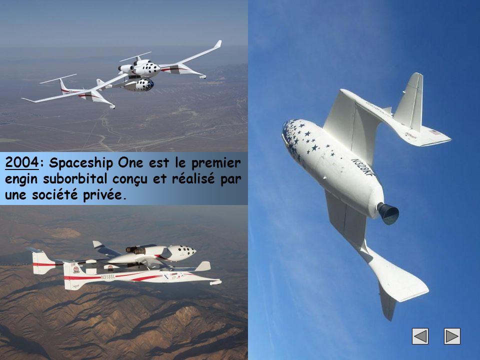 31 2004: Spaceship One est le premier engin suborbital conçu et réalisé par une société privée.