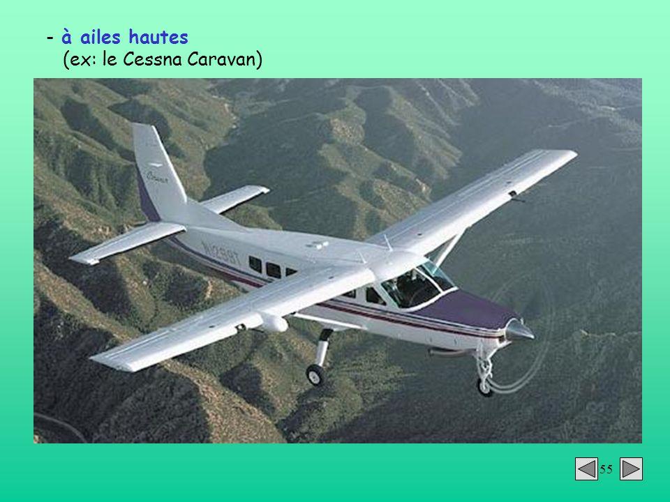 55 - à ailes hautes (ex: le Cessna Caravan)