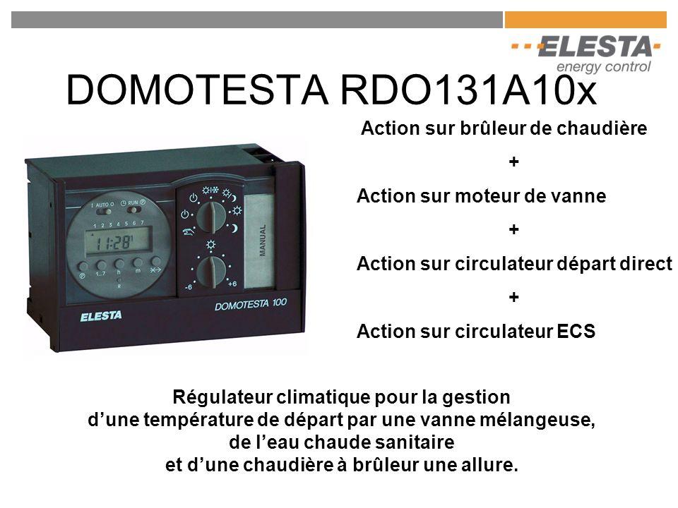 DOMOTESTA RDO131A10x Action sur brûleur de chaudière + Action sur moteur de vanne + Action sur circulateur départ direct + Action sur circulateur ECS