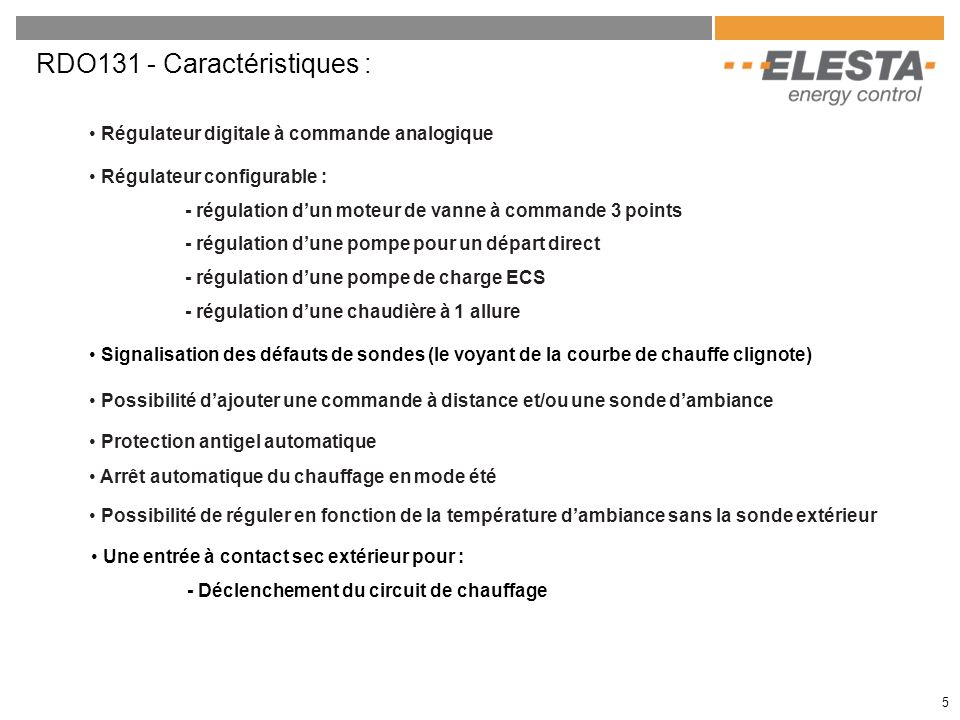 6 Application 1 Régulation dun plancher chauffant.