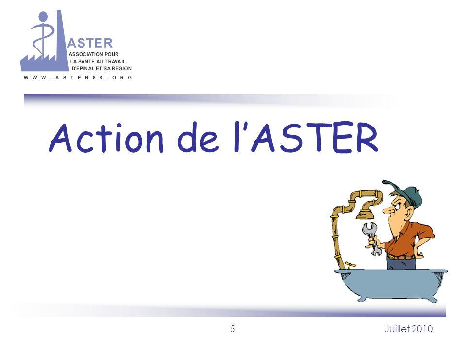 5Juillet 2010 Action de lASTER