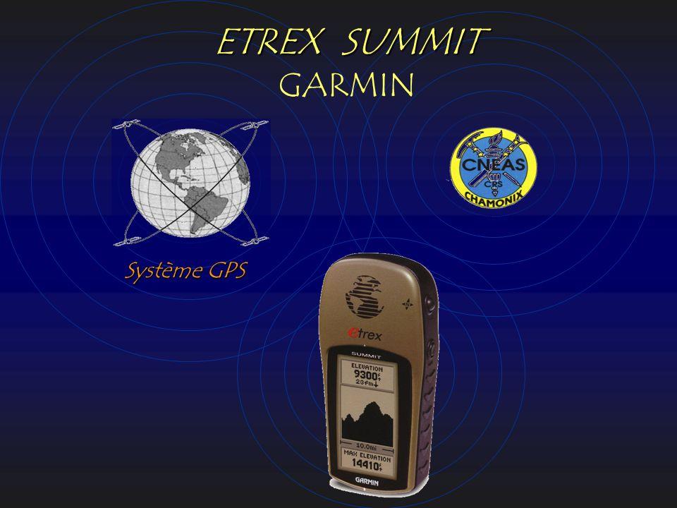 ETREX SUMMIT ETREX SUMMIT GARMIN Système GPS