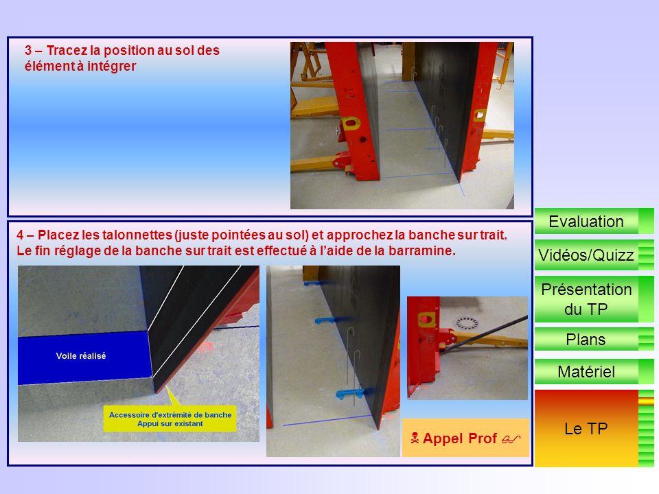 Le TP DEBUT DE LA REALISATION PRATIQUE 1 - Repérez les points figurés au sol 2 – Tracez au bleu les nus du voile à réaliser Présentation du TP Plans M