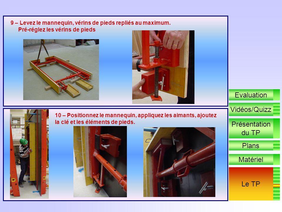 8 – Positionnez labout en profondeur et réglez laplomb. Bloquez. Positionnez laimant de boîtier électrique et la boîte darmatures de reprise Positionn