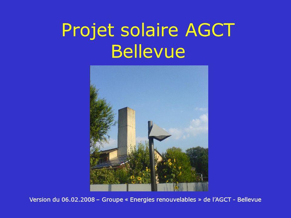 Projet solaire AGCT Bellevue Version du 06.02.2008 – Groupe « Energies renouvelables » de lAGCT - Bellevue