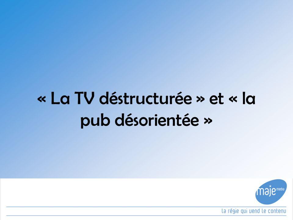 « La TV déstructurée » et « la pub désorientée »